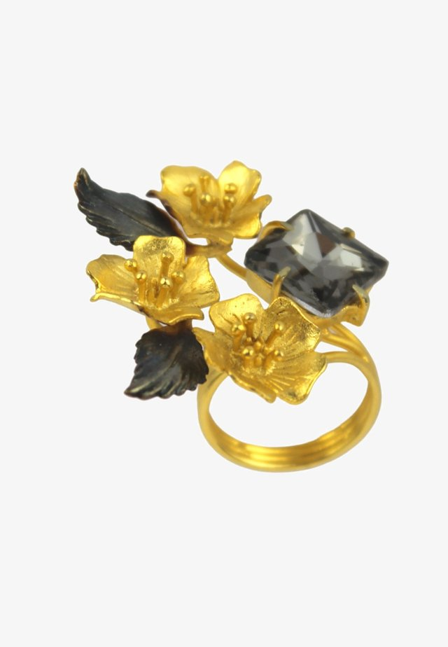 HONEY BEE WITH BLACK STONE - Bague - black