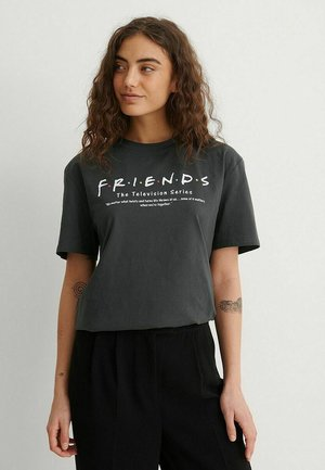 Print T-shirt - grey friends definition