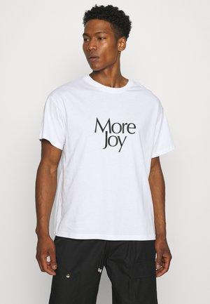 MORE JOY UNISEX - T-shirt print - white