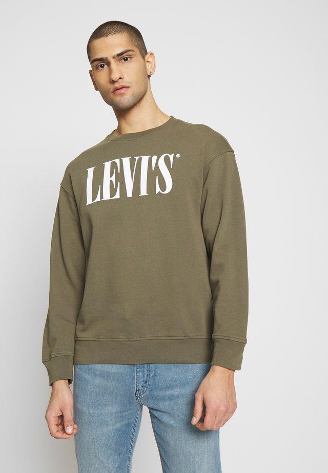 RELAXED GRAPHIC CREWNECK - Felpa - olive night