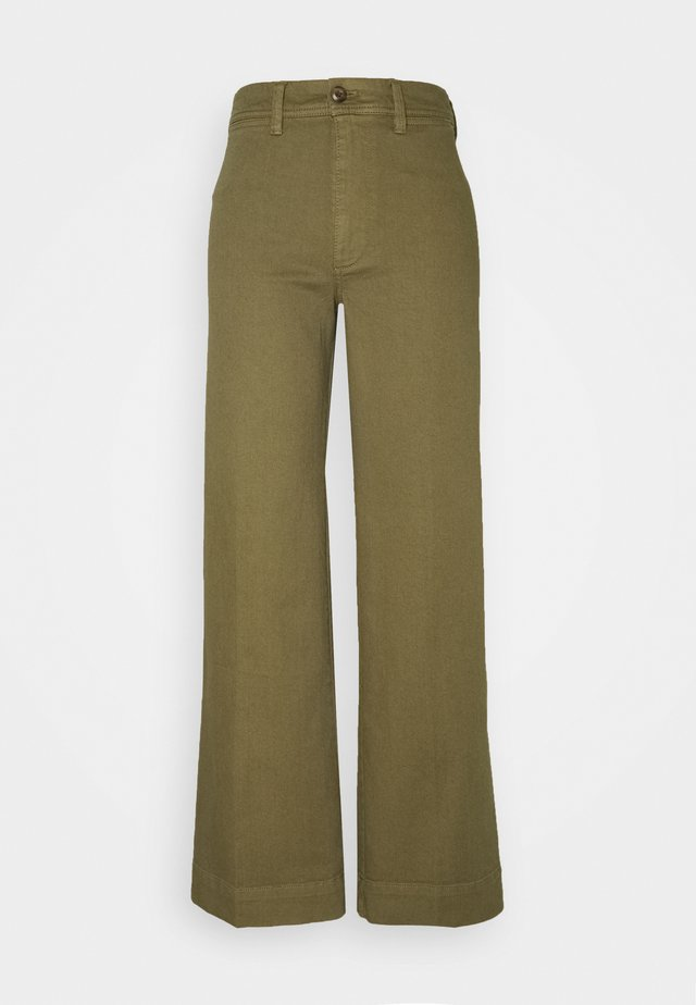 FULL LENGTH WIDE LEG - Relaxed fit jeans - olive