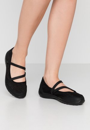 BE-LIGHT - Ankle strap ballet pumps - black