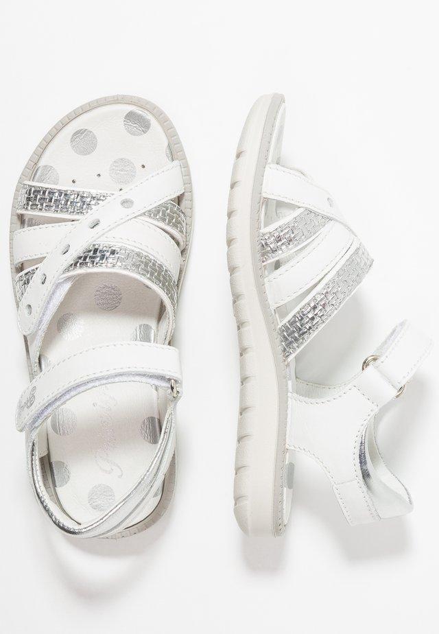 Sandály - bianco/argento