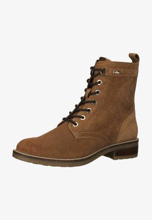 Lace-up ankle boots - cognac 305