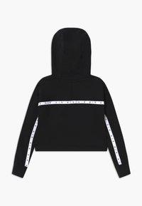 Nike Sportswear - NIKE AIR CROP HOODIE - Hoodie - black/white - 1