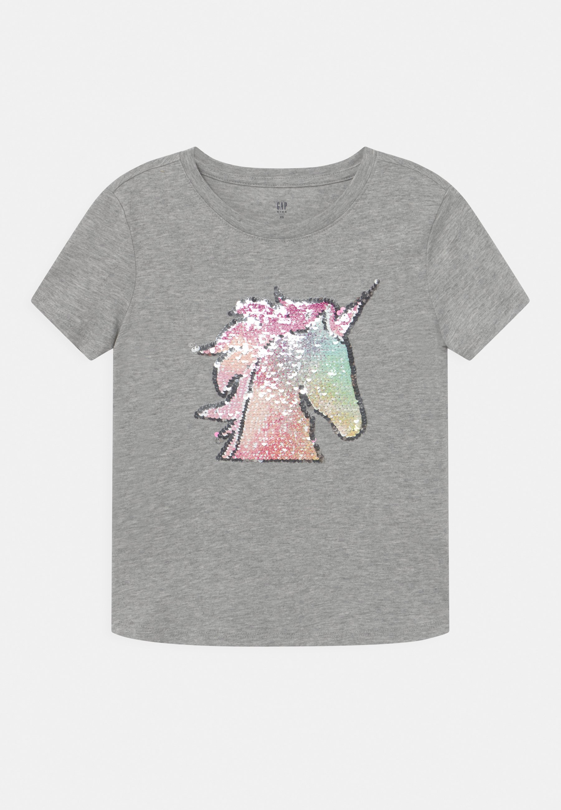 Kids GIRL FLIPPY - Print T-shirt - light heather grey