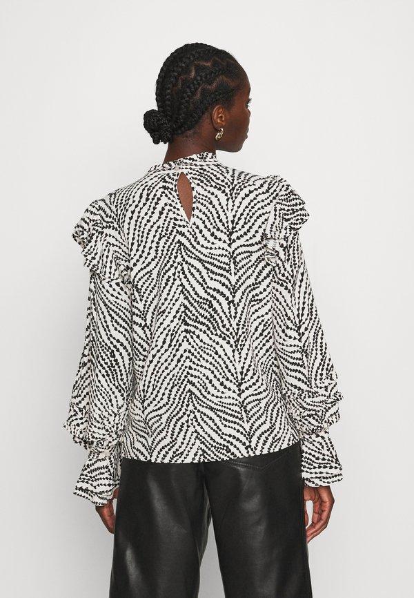 Fabienne Chapot LEO FRILL - Bluzka - black/white/czarny OMSF