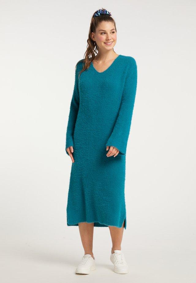 Gebreide jurk - teal
