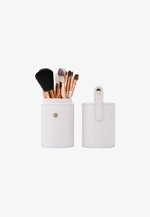 12 PIECE BRUSH SET TRAVEL CASE - Makeup brush - white/rose gold