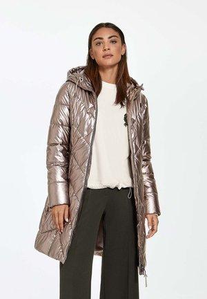 Winter coat - silver mink metallic