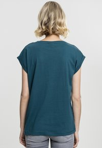 Urban Classics - LADIES EXTENDED SHOULDER - T-shirt basic - teal - 1