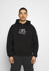 FUBU - SCRIPT HOODED - Sweatshirt - black - 0