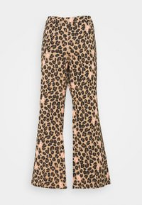 Never Fully Dressed - LEOPARD KICK FLARE TROUSERS - Trousers - multi - 1