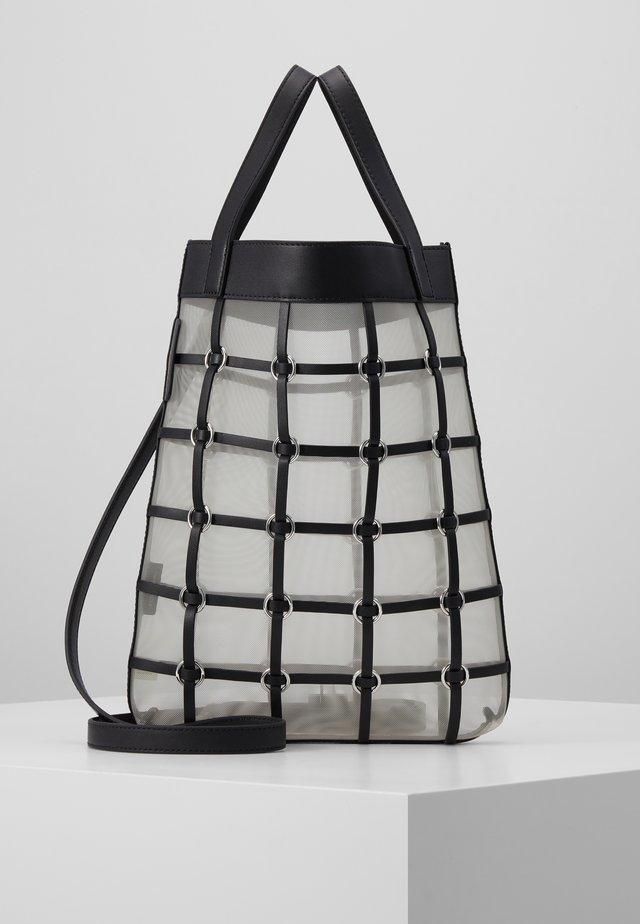 BILLIE MINI TWISTED CAGE TOTE - Shoppingveske - black