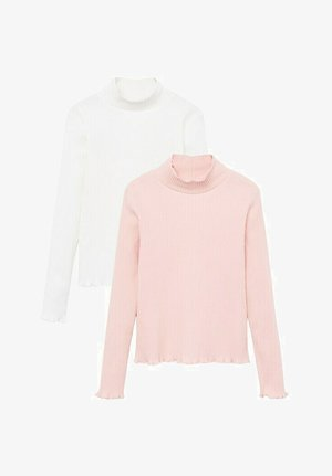 2 PACK - Long sleeved top - écru