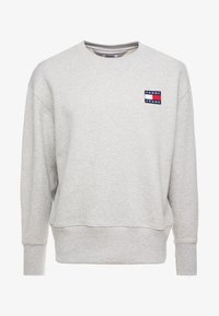Tommy Jeans - BADGE CREW UNISEX - Bluza - grey - 5