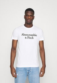 Abercrombie & Fitch - 3 PACK - T-shirt med print - white/navy/red - 1