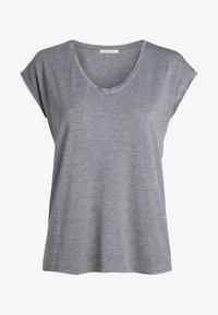 Pieces - T-shirt imprimé - light grey melange - 2