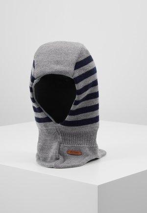 Mütze - grey melange/navy