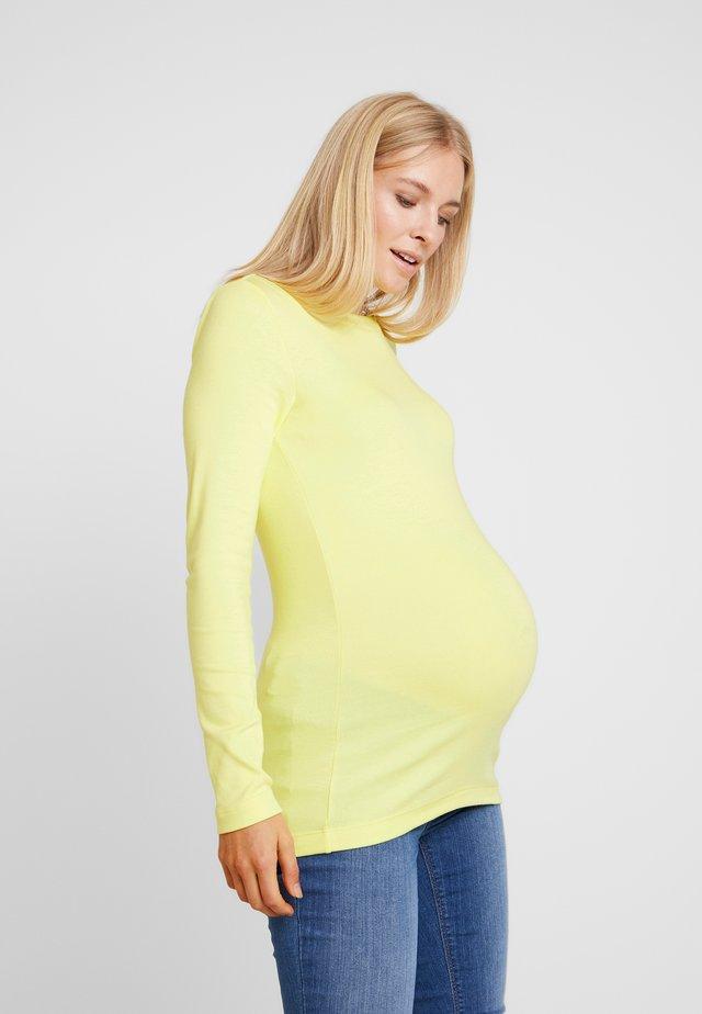 MODERN BOATNECK - Camiseta de manga larga - fresh yellow