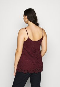 CAPSULE by Simply Be - ALL OVER CAMI - Blouse - aubergine - 2