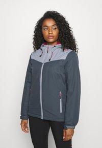 CMP - WOMAN JACKET FIX HOOD - Hardshell jacket - titanio - 0