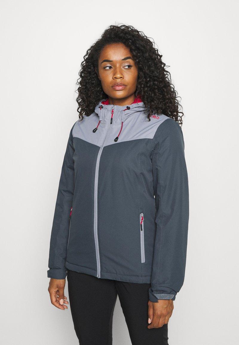 CMP - WOMAN JACKET FIX HOOD - Hardshell jacket - titanio