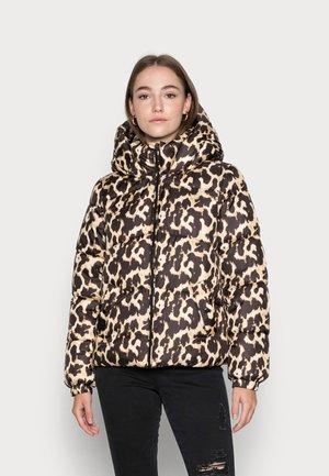 VMUPPSALA PRINT SHORT JACKET - Winter jacket - tan
