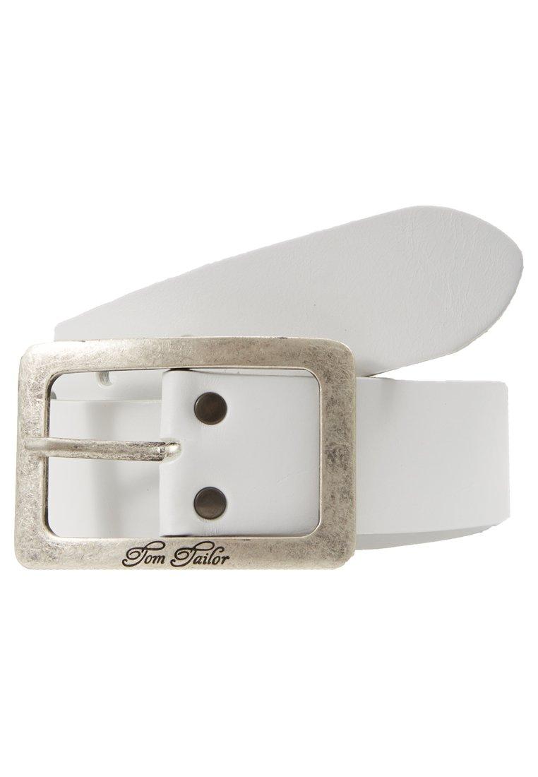 TOM TAILOR Belte - white/hvit 0tGVqDTf1GxiDXz