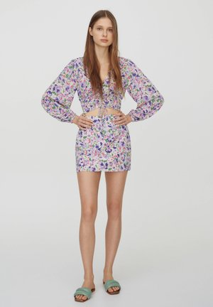 Spódnica trapezowa - purple