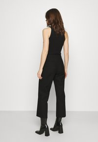 Selected Femme - SLFLINA WIDE ANKLE PANT - Trousers - black - 2