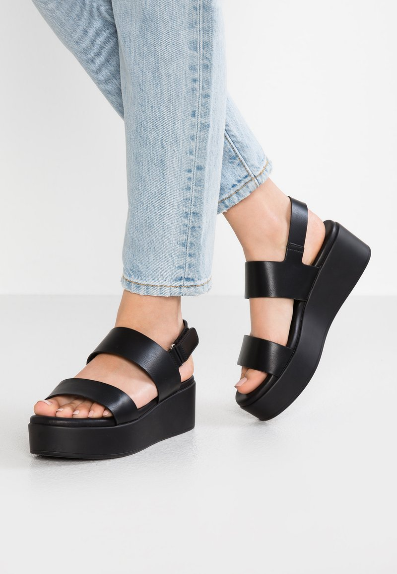 ALDO - AGRERINIA - Platform sandals - black