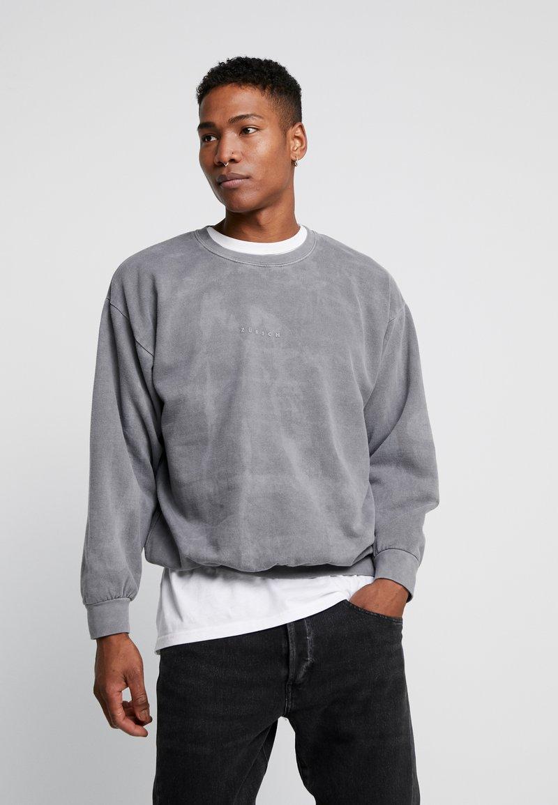 Topman - UNISEX ZURICH PUFF  - Sweatshirt - grey