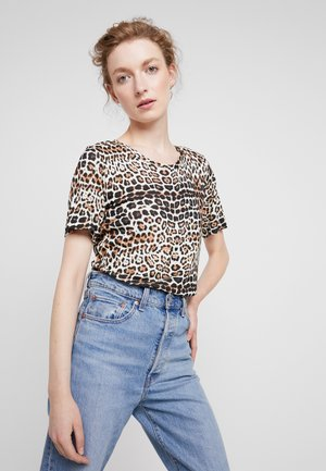 ROSITA O NECK - Print T-shirt - french nougat