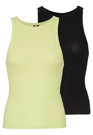 VMROMA HALTERNECK VIP 2 PACK - Top - black/sunny lime