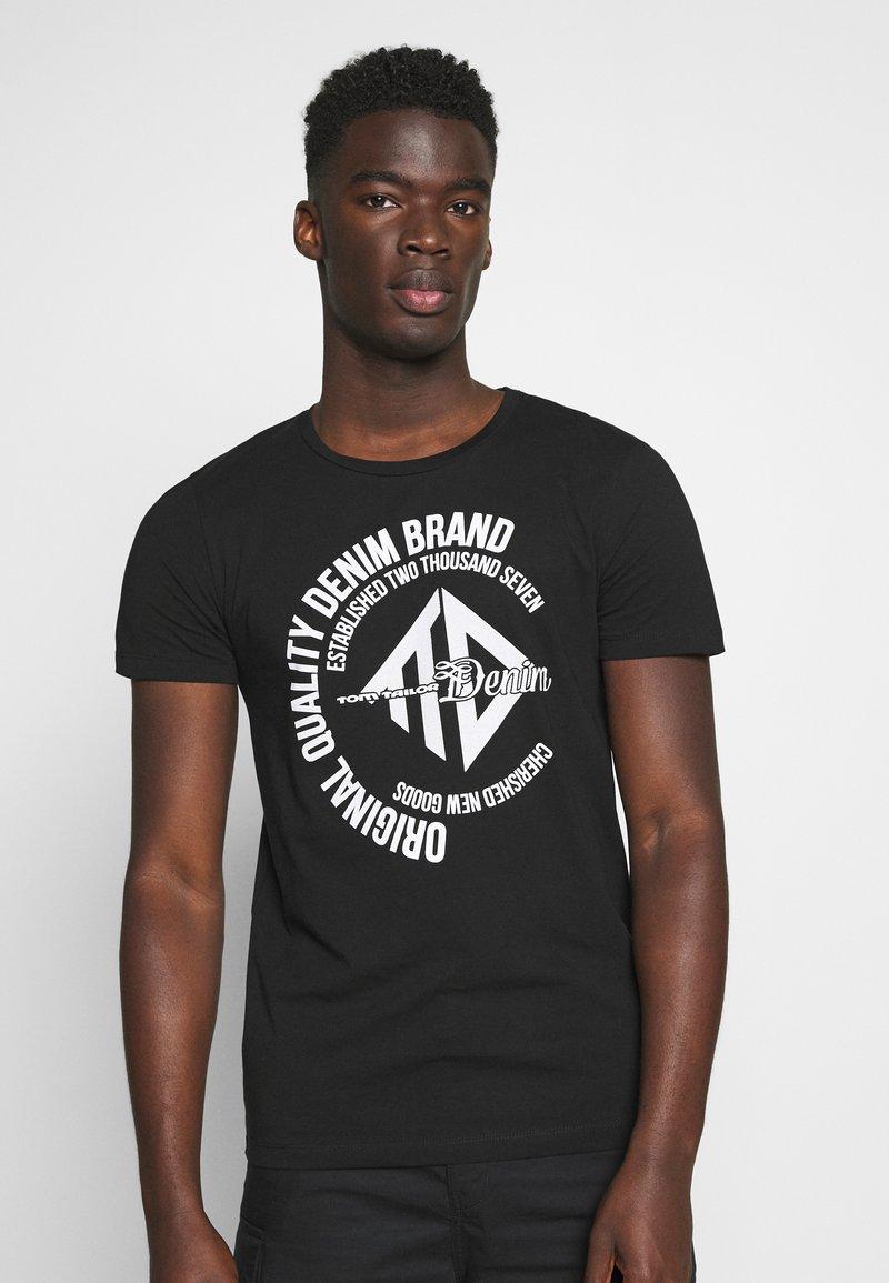 TOM TAILOR DENIM - Print T-shirt - black
