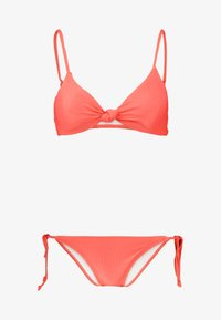 KNOT FRONT BRALETTE SET - Bikini - spicy red