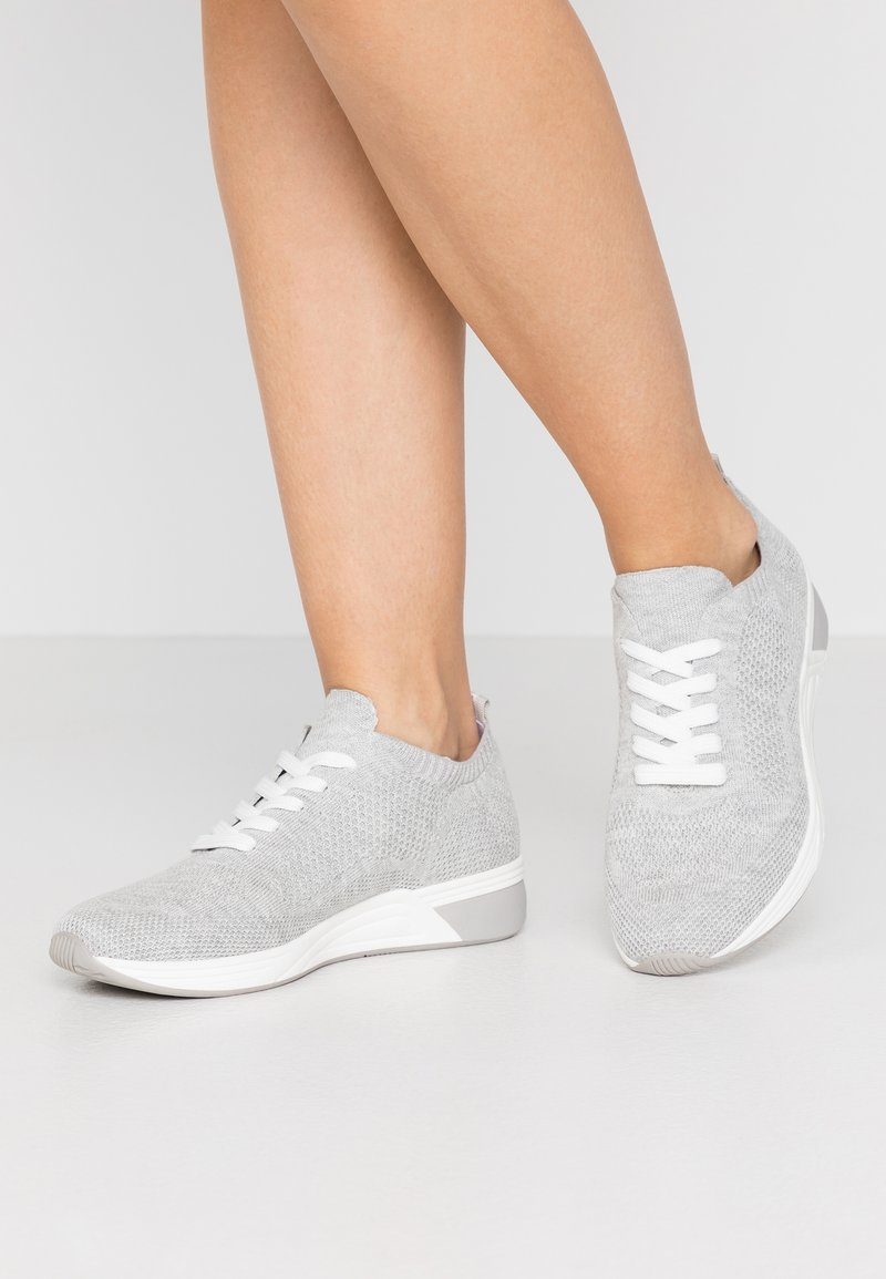 LOVE OUR PLANET by MARCO TOZZI - Sneakers laag - light grey