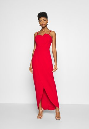 PANEL DETAIL LONG DRESS - Vestido de fiesta - red