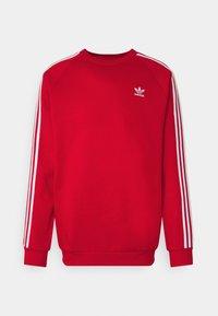 adidas Originals - 3 STRIPES CREW UNISEX - Sweatshirt - scarlet - 0