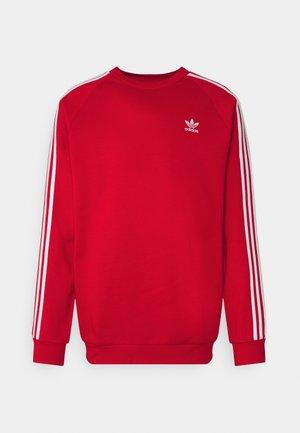 STRIPES CREW UNISEX - Sweatshirt - scarlet