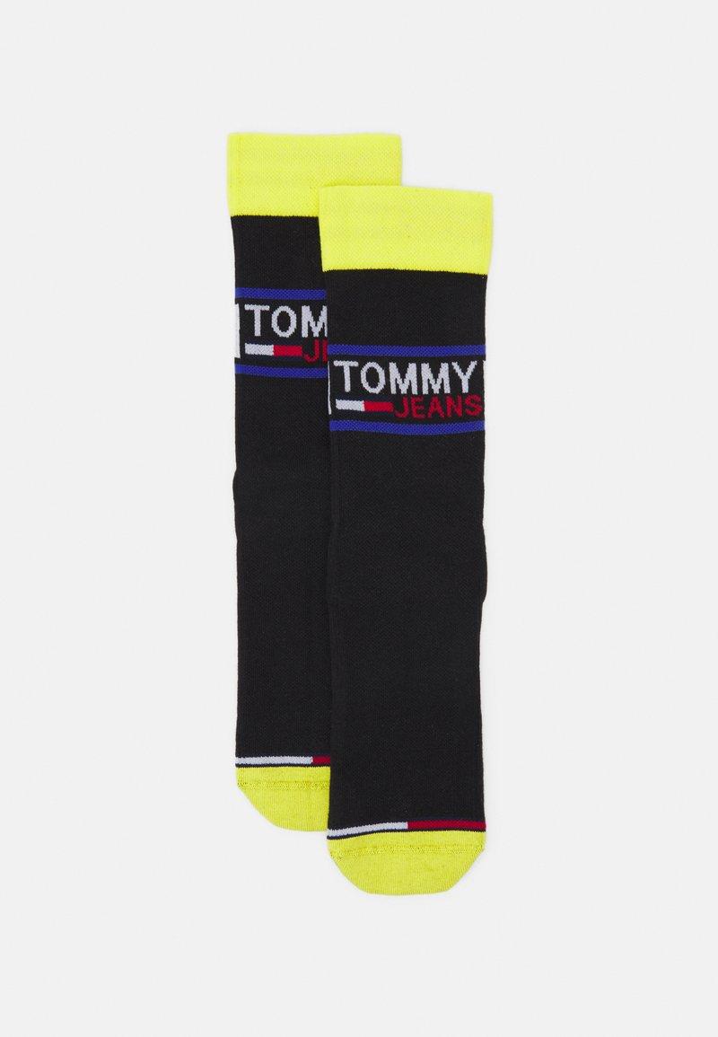 Tommy Jeans - SOCK 2 PACK UNISEX  - Socks - black/yellow