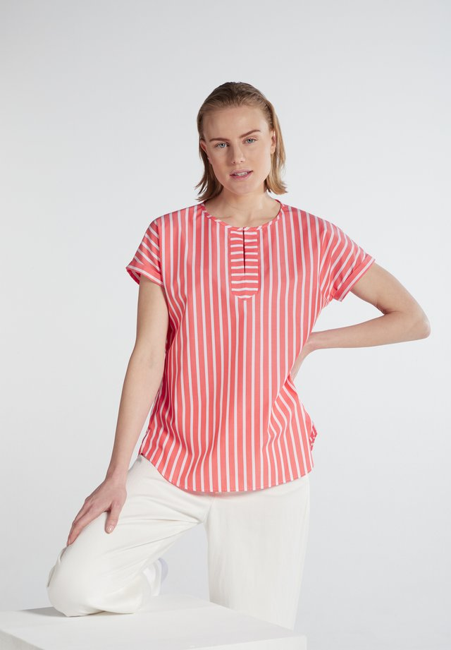 Blouse - koralle/weiss