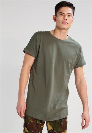LONG SHAPED TURNUP TEE - Basic T-shirt - olive