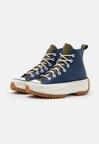 Converse - RUN STAR HIKE - High-top trainers - navy/dark moss/egret - 4