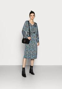 Vero Moda Tall - VMLULU CALF DRESS - Day dress - black/lulu - 1