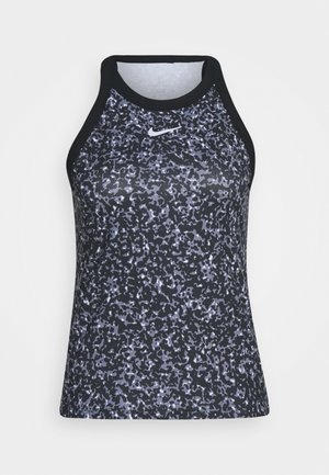 DRY TANK PRINTED - Sports shirt - black/white