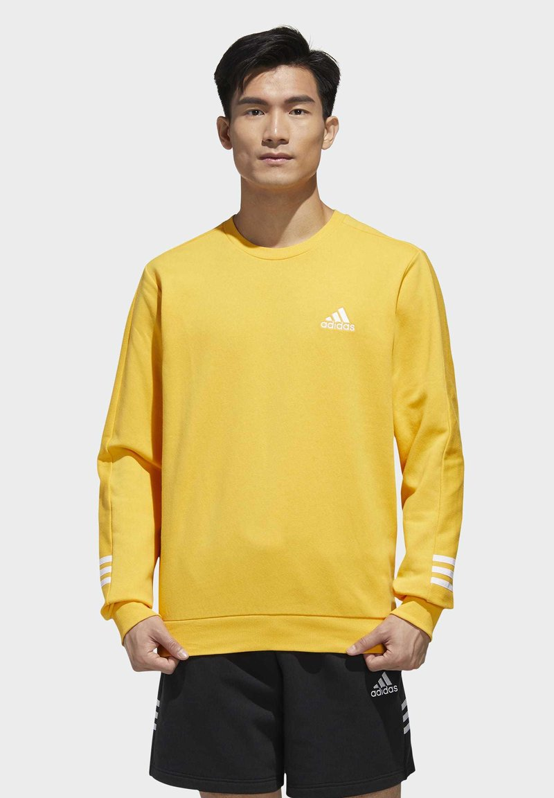 adidas Performance - ESSENTIALS TRAINING SPORTS PULLOVER - Mikina - active gold/white