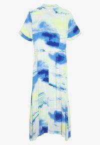 TOM TAILOR DENIM - MIDI TIE DYE DRESS - Maxi dress - green/blue - 1