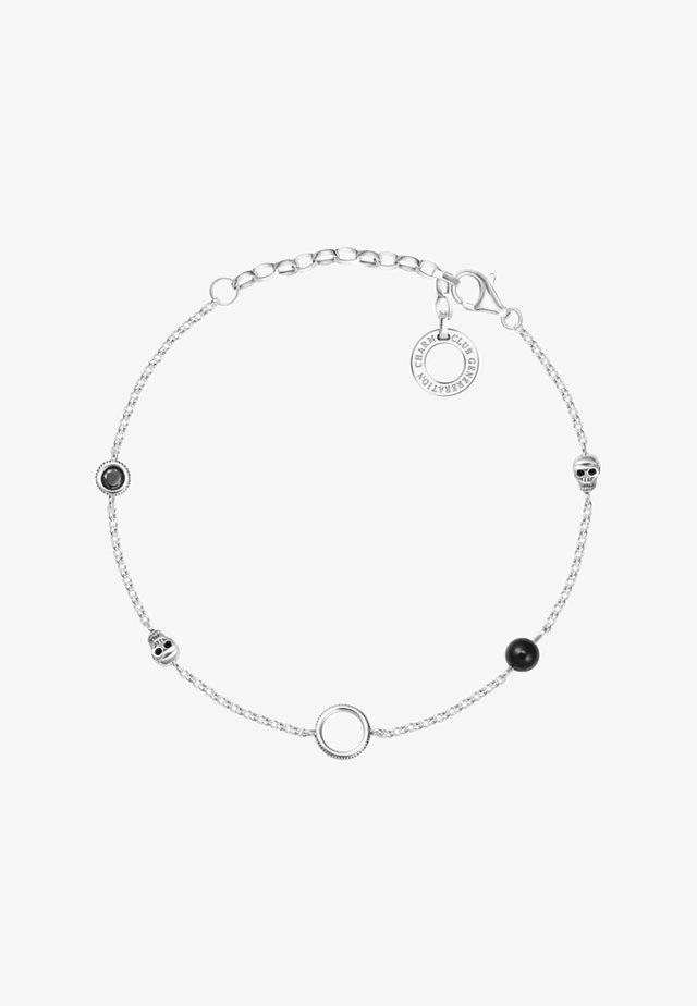Bracelet - silvery/black